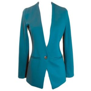 Mossimo Blazer One Button Emerald Green XS